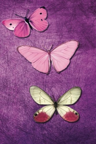 Abstract Dot - Dotted Notebooks 6 X 9: Butterfly Purple Pink Grunge Abstract Dot Grid Journal 202 Pages