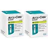 Accu Chek Instant Test Strips - 50 Count (Pack of 2, Black)