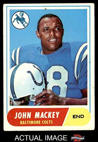 1968 Topps # 74 John Mackey Baltimore Colts (Football Card) Dean's Cards 2 - GOOD Colts 1968 Baltimore Colts