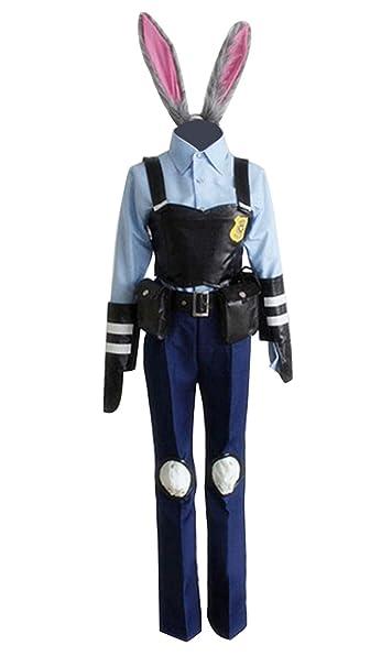 Amazon.com: Disfraz de Judy para mujer, uniforme de policía ...