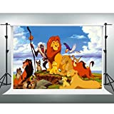 GESEN 7X5ft Lion King Simba Backdrop Cartoon Animation Photography Background for Pictures Themed Party Backdrop Photo Studio Shooting Props PGGE160