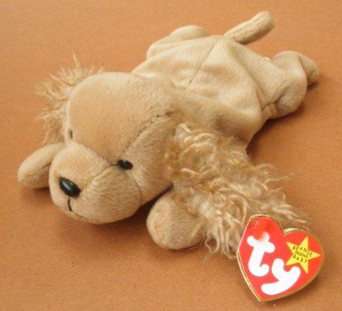 (TY Beanie Babies Spunky the Cocker Spaniel Dog Plush Toy Stuffed Animal )