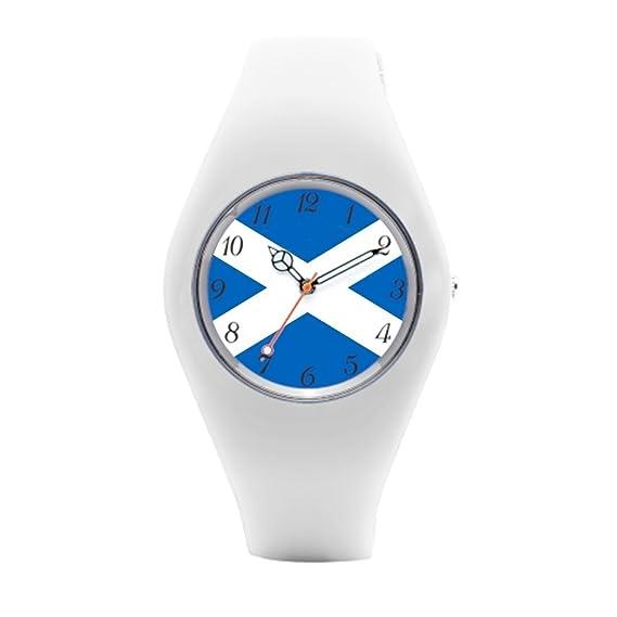 Bandera para hombre de goma relojes Reino Unido Reloj de pulsera mujer