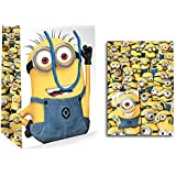 Official Despicable Me 2 Minion large Gift bag + Gift Wrap (2 Sheets 2 Tag)
