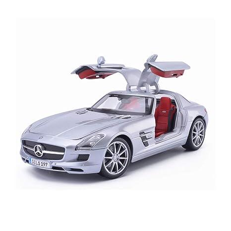 HXGL-Modelo de coche 1:18 Mercedes-Benz SLS Modelo Metal ...
