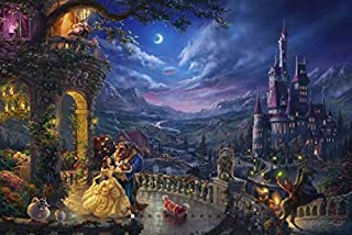 product image for Ceaco Thomas Kinkade The Disney Collection Beauty and The Beast Dancing in The Moonlight Jigsaw Puzzle, 750 Pieces