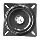"""MySit 7"""" Bar Stool Swivel Plate Replacement, Square Swivel Mechanism for Recliner Chair or Furniture - Ball Bearing Swivel Boat Seat (SwivelPlate_7)"""