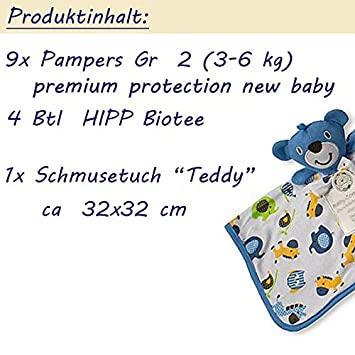 Blau ★ Windelpizza SchmusetuchTeddy ★ Ein tolles Geschenk zur Geburt oder Taufe