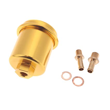 generic gold : high flow fuel filter performance racing for 96-00 honda  civic golden: amazon in: car & motorbike