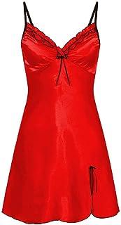 Sallydream Vestido de Mujer Nighte Plus Size Fold Bow Lingerie Babydoll Nightwear Sleepskirt