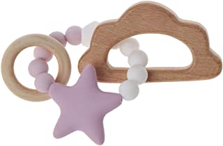 MIsha Baby Nursing Bracelets Silicone Teether Loose Chew Beads Teething Rattles Toys Teether Montessori Bracelets