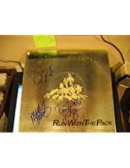 """* BAD COMPANY * signed """"Run With the Pack"""" album cover / UACC RD # 212"""