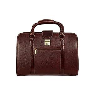 HYATT Leather Accessories Men's Leather Shoulder Bag (Brown,HL62)