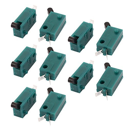 eDealMax 10 piezas de DC 50V 1A SPST momentáneo micro interruptor en miniatura verde para la cámara - - Amazon.com