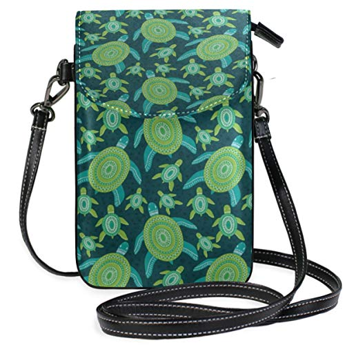 Phone Purse Mini Cell Phone Pouch Green Sea Turtle for Women -