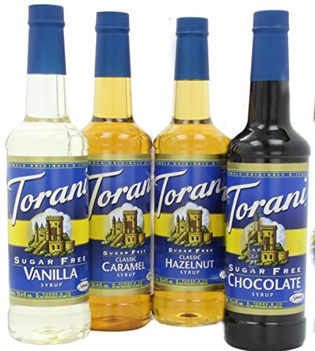 Classic Hazelnut Syrup (Torani Sugar Free Syrup Variety Pack, 25.4 Ounce (Pack of 4))