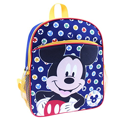 Disney Boys' Mickey Mouse 12 Inch Children's Backpack, Blue, One Size (Backpack For Boys Mickey Mouse)