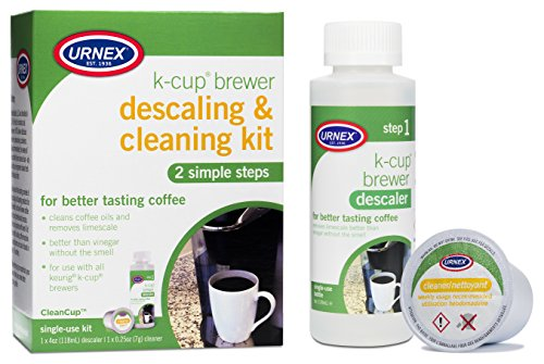Keurig K-Cup Machine Descaler & Cleaning Kit by Urnex (compatible with Keurig 2.0 machines, packaging may vary)