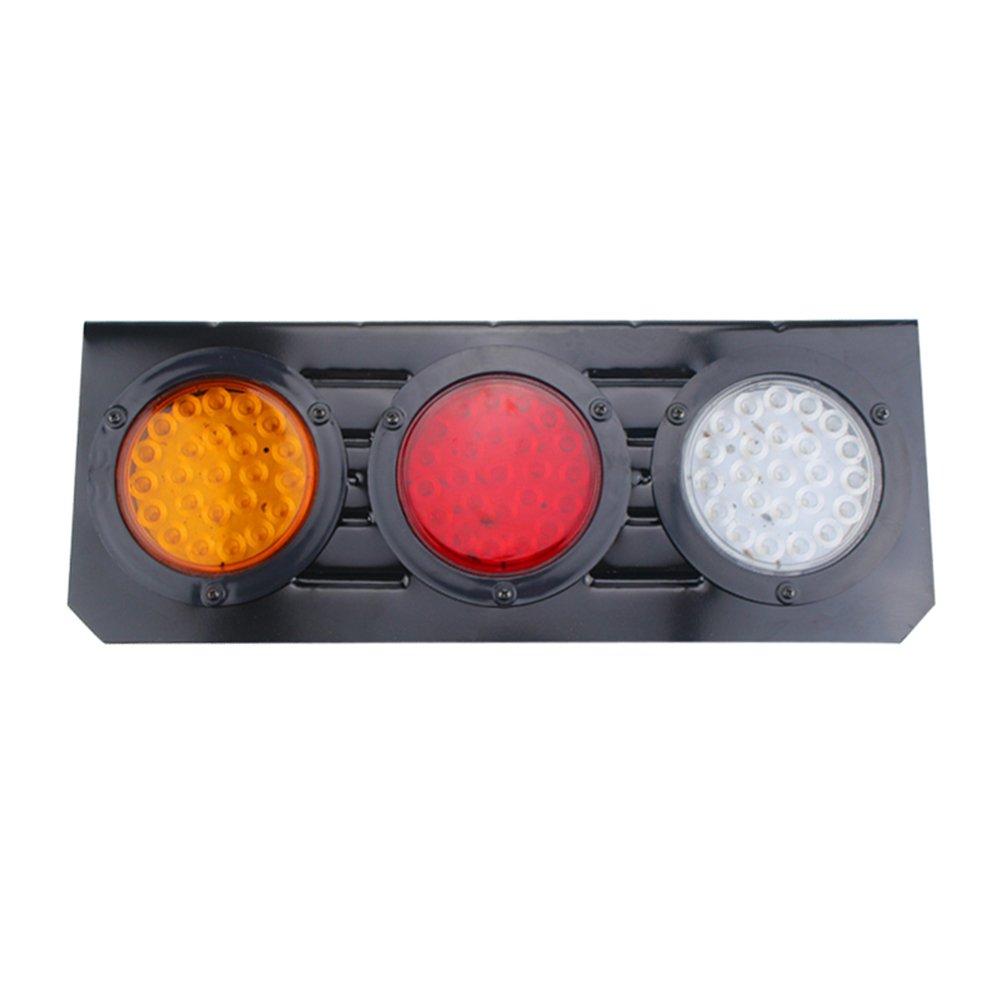 VORCOOL LED防水トレーラーテールライトwith Ironブラケットベースdc12 – 24 V用リアライトウィンカーライトブレーキライトバックアップライト( 24 V ) B07BF2TB3J