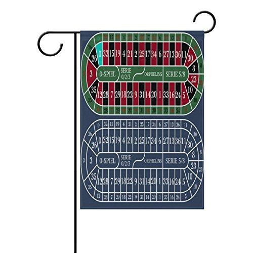 """LEISISI European Roulette Table Garden flag 12""""X18"""" Two Side"""