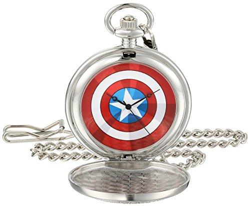 Marvel Men's W001744 The Avengers Captain America Analog-Quartz Pocket Watch