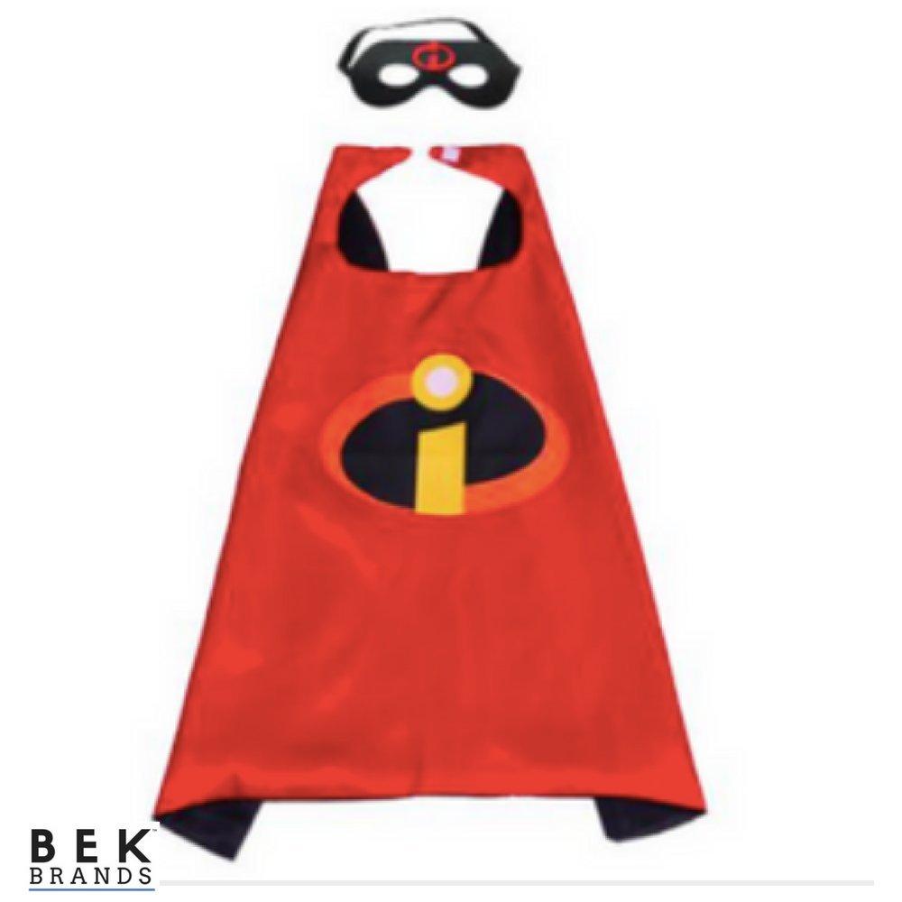 Amazon.com: Bek Brands The Incredibles - Juego de capa y ...