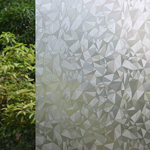 VSUDO Decorative Privacy Window Film, No Glue Decor Static Cling Glass Sticker, Anti-UV Window Tint for Home or Office (Living Room/Bathroom/Kitchen)(1 Roll, 17.7