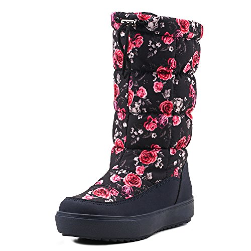 Shenda Womens Drawstring Nylon Fabric Snow Boots E7624
