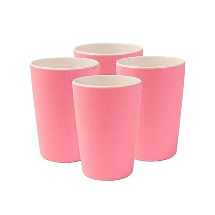 tout neuf 4a4a4 0d578 BIOZOYG Gobelets colorés durables en Bambou, Lavable, sans BPA I Vaisselles  d'enfants pour Pique-Nique I Tasse à 4 pièces Bambou pour Enfants Nature ...