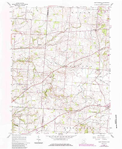 (YellowMaps East Ringgold OH topo map, 1:24000 Scale, 7.5 X 7.5 Minute, Historical, 1958, Updated 1985, 26.9 x 22 in - Paper)