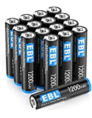 EBL 16 Pack AAA 1200mAh Lithium Batteries, 1.5V Disposable Lithium AAA Batteries, High Performance, Long Lasting, Light Weight(Non-Rechargeable)