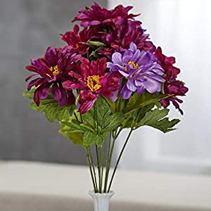 Factory Direct Craft Purple Artificial Zinnia Bush 45