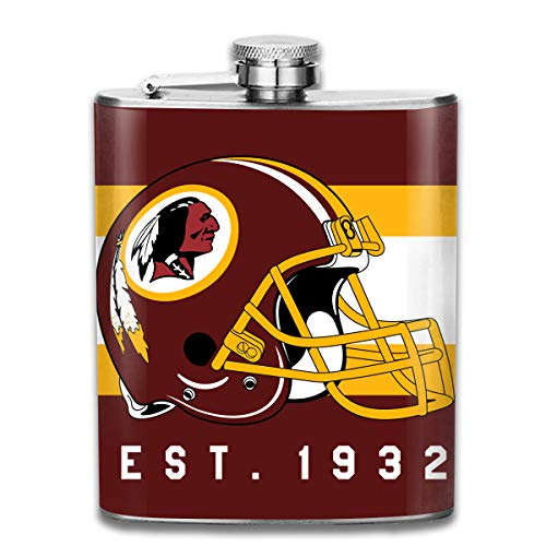 Aoskin Washington Redskins Portable Stainless Steel 7oz Hip Flask Flagon Whiskey Wine Pot Bottle