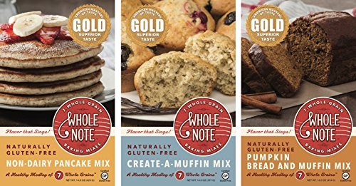 Whole Note 7-Whole-Grain, Vegan Sampler, Naturally Gluten-Free -