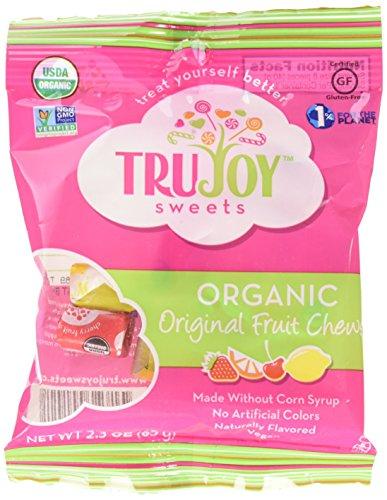 TruJoy Organic Sweets Fruit Chews, 2.3 Ounce -- 12 per case.