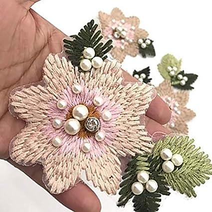 32cm poli/éster Negro Scrox 1x Adhesivo de Tela Collar de Flores Accesorios de Vestir DIY Bordados Pegatinas Accesorios y Manualidades Ropa Apliques 32
