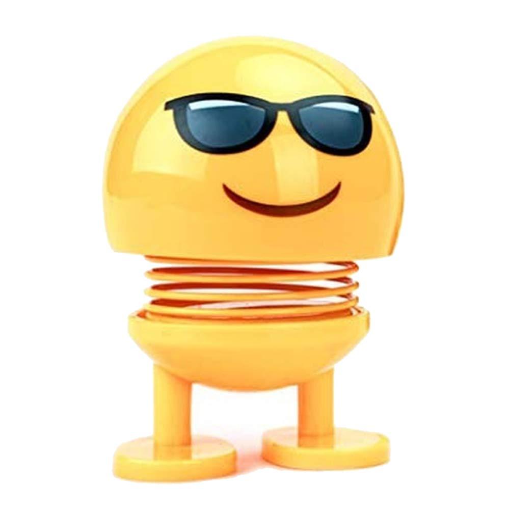 Emoji Spring Shaking Head Doll Toy Car Adornos decoración de ...