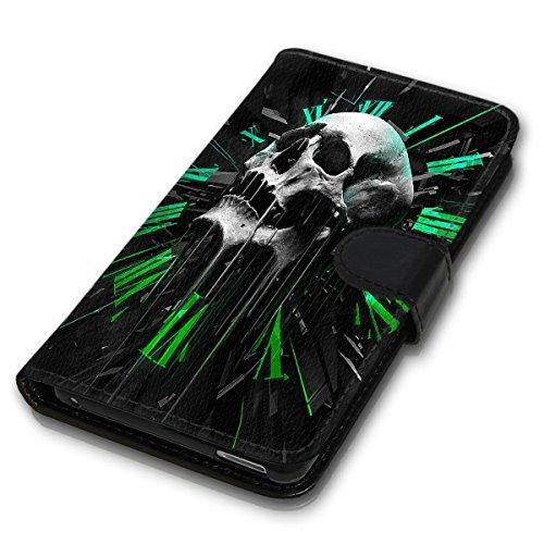 Wallet Book Style Flip Handy Tasche Case Schutz Hülle Schale Motiv Etui für Apple iPhone 4 / 4S - Design Flip MVD365