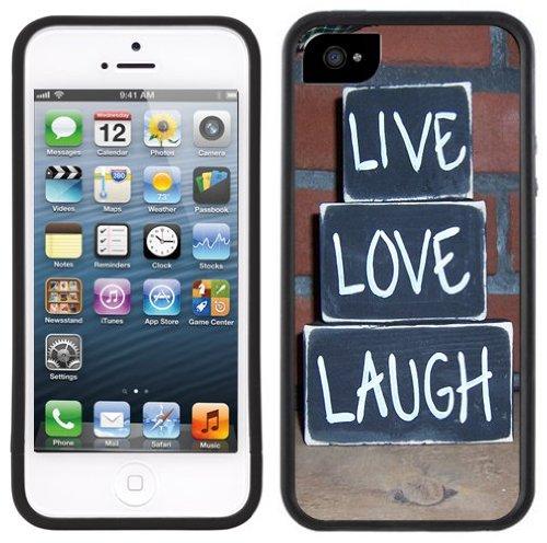 Lebe, liebe, lache   Handgefertigt   iPhone 5 5s   Schwarze Hülle