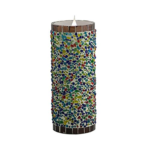 Pacific Accents Solare Speckled Stucco Flameless Candle