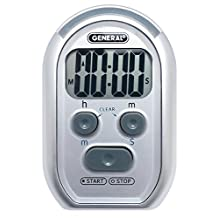 General Tools TI150 3-in-1 Kitchen Timer - for Visually/Hearing Impaired, Loud Environments (Red Flasher, Loud Beeper, Vibration)