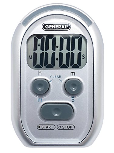 General Tools TI150 3 in 1 Kitchen Timer for Visually/Hearing Impaired, Loud Environments (Red Flasher, Loud Beeper, Vibration)