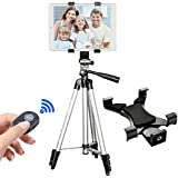 Tripod for iPad, PEYOU 42 Inch Portable Lightweight Adjustable Aluminum Camera Tablet Tripod + Universal Mount Tablet Holder + Bluetooth Wireless Remote Shutter for iPad Samsung Kindle Fire Tablets