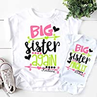 Big Sister Again Big Sister Finally Shirts Set Personalized Pregnancy Announcement Shirts