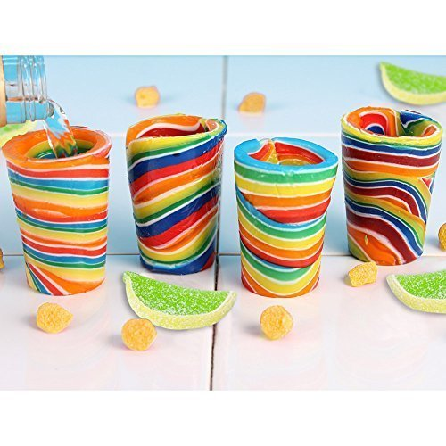 (Set/4) Edible Candy Lemon And Lime Flavor Shot Glass - Snack Drinkware Set (Edible Shot Glasses)
