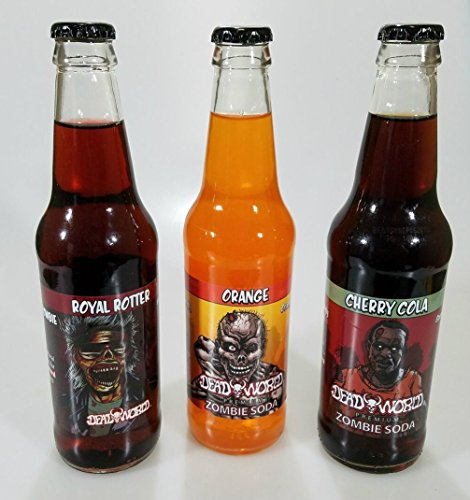 - Deadworld Premium Soda 6 - 12oz Glass Bottles (3 Flavor Variety Pack)