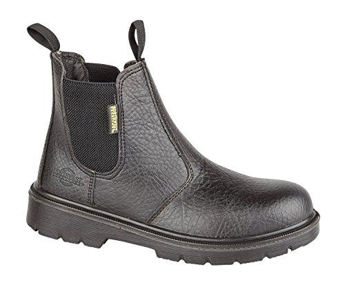 Mens Super Safety Chelsea Dealer Boot 200 Joule Steel Safety Toe Cap, Sole Unit Is Shock Resistant, Oil Resistant Petrol Resistant Acid Resistant Non Slip Footwear Slip On Pull Comfortable Leather Black