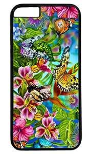 Beautiful Butterfly DIY Hard Shell Black Best Designed iphone 6 Case