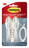 Command 17304 Medium Cord Bundlers With Strips, White, 2 Bundlers and 3 Strips