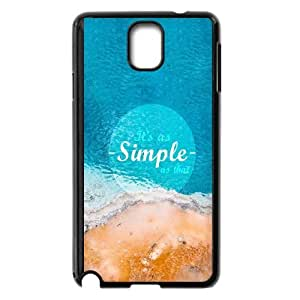 Samsung Galaxy Note 3 Cell Phone Case Black As Simple As That JNR2038858